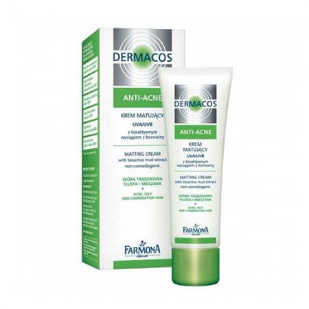 Придающий матовость дневной крем UVA/UVB Dermacos Anti-Acne